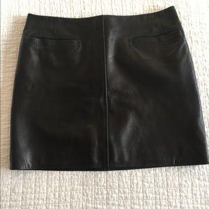 Barbara Bui black leather mini skirt w/ pockets